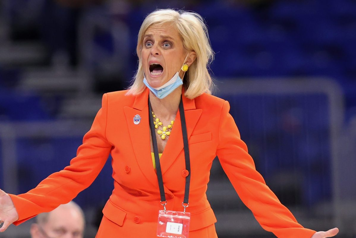Coach Kim Mulkey of the Baylor Lady Bears