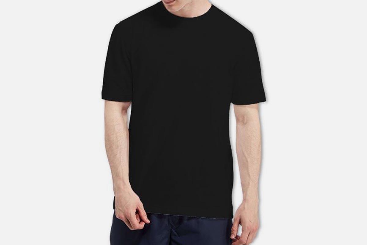 man in a Camber 301 Max-Weight Heavyweight T-Shirt