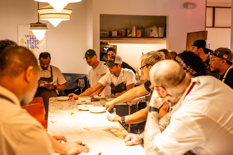 Kevin Tien and Tim Ma participate in a collaboration of chefs from around the country at Ma's restaurant, American Son, for Indie Chef Week