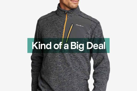 Eddie Bauer half-zip, now on sale