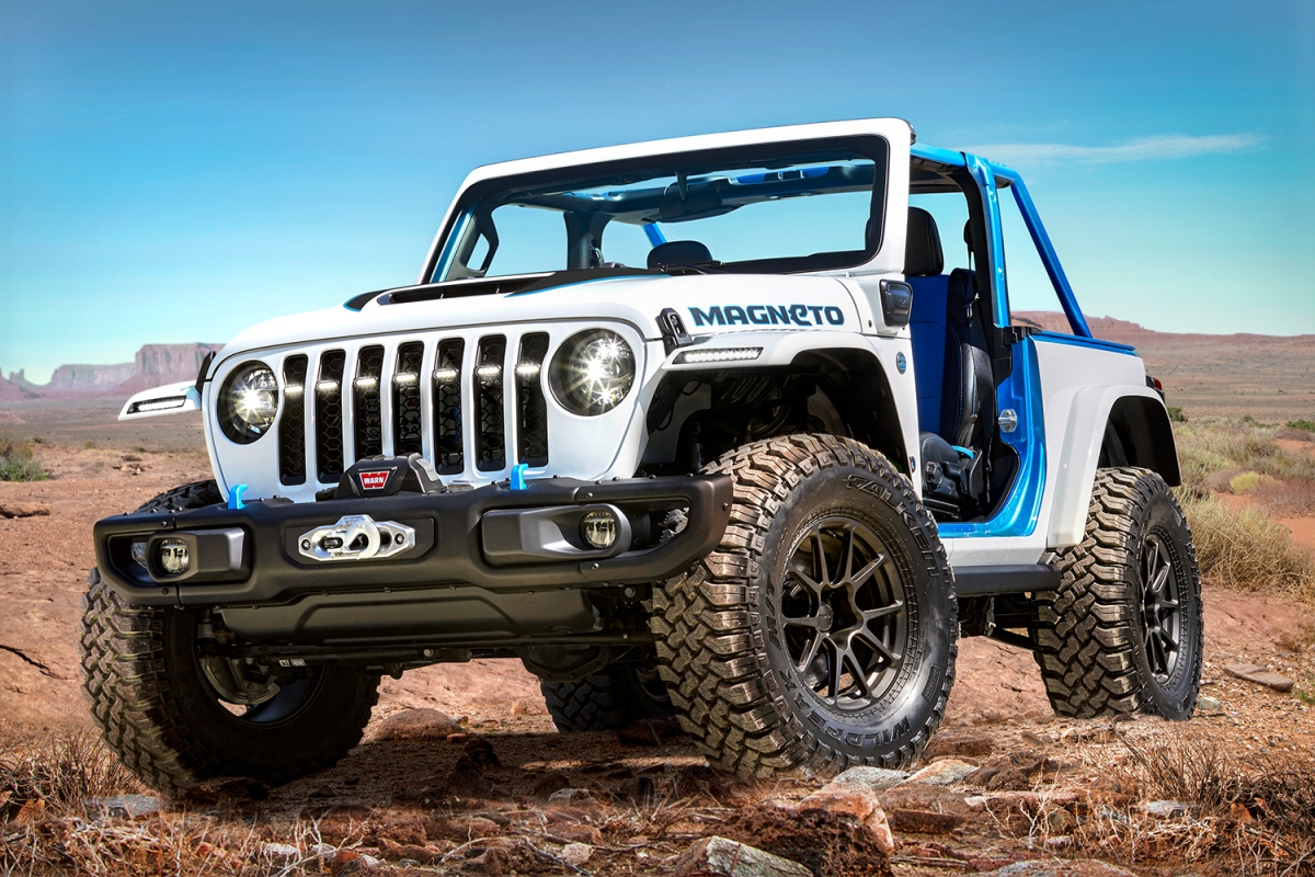The electric Jeep Magneto, a concept Wrangler built for the Easter Jeep Safari