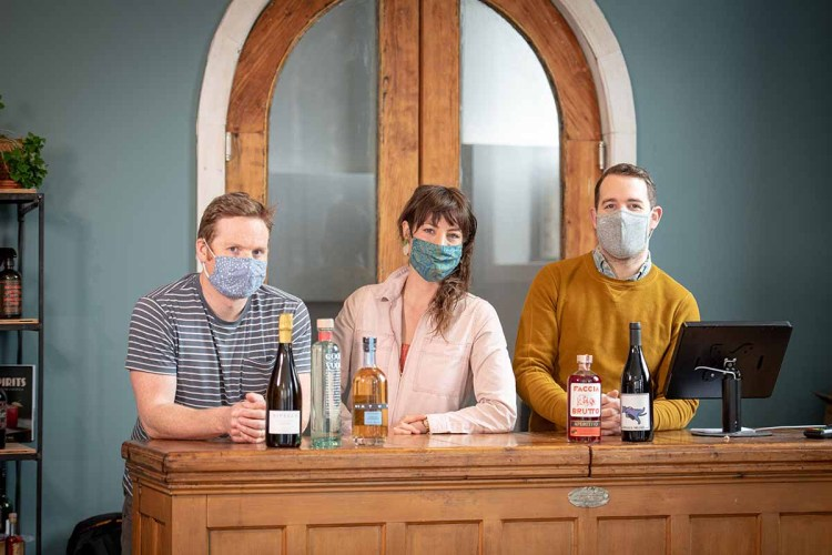 the three co-founders of Brooklyn's Fiasco wine store