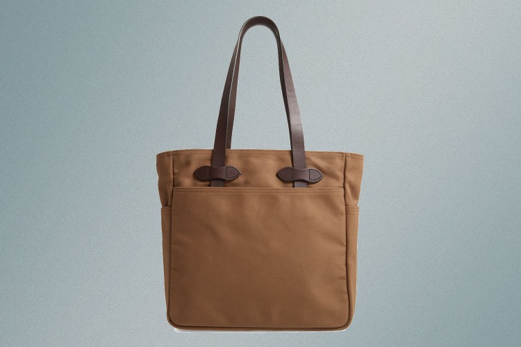 Filson tote bag in sepia