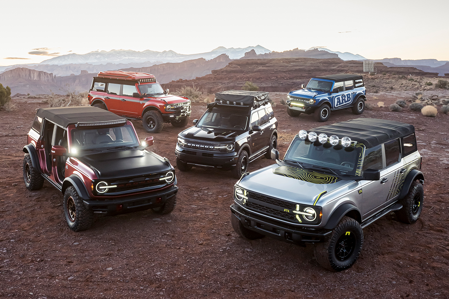Custom Ford Bronco off-road concepts for the Easter Jeep Safari
