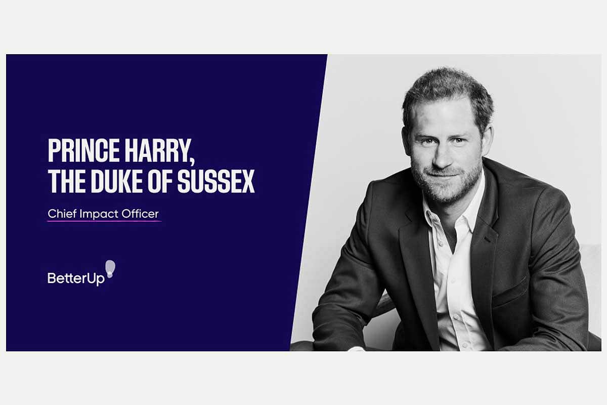 The employment announcement of Prince Harry by BetterUp