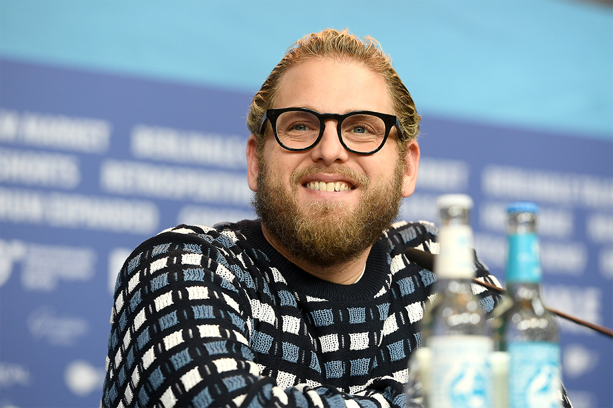 Actor Jonah Hill at a press conference
