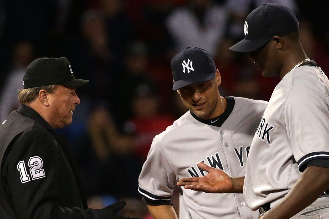 Yankees pitcher Michael Pineda caught with pine tar