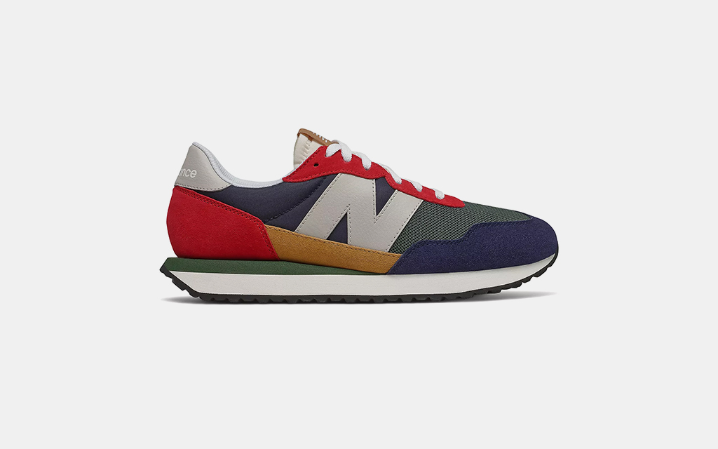 New Balance 237 in Team Red with Pigment