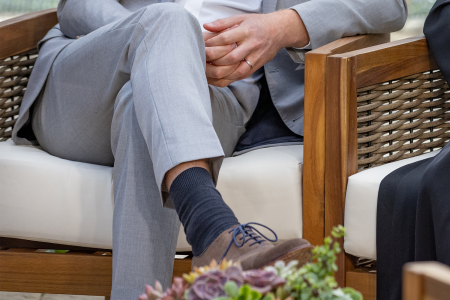 Prince Harry sock malfunction during Oprah interview