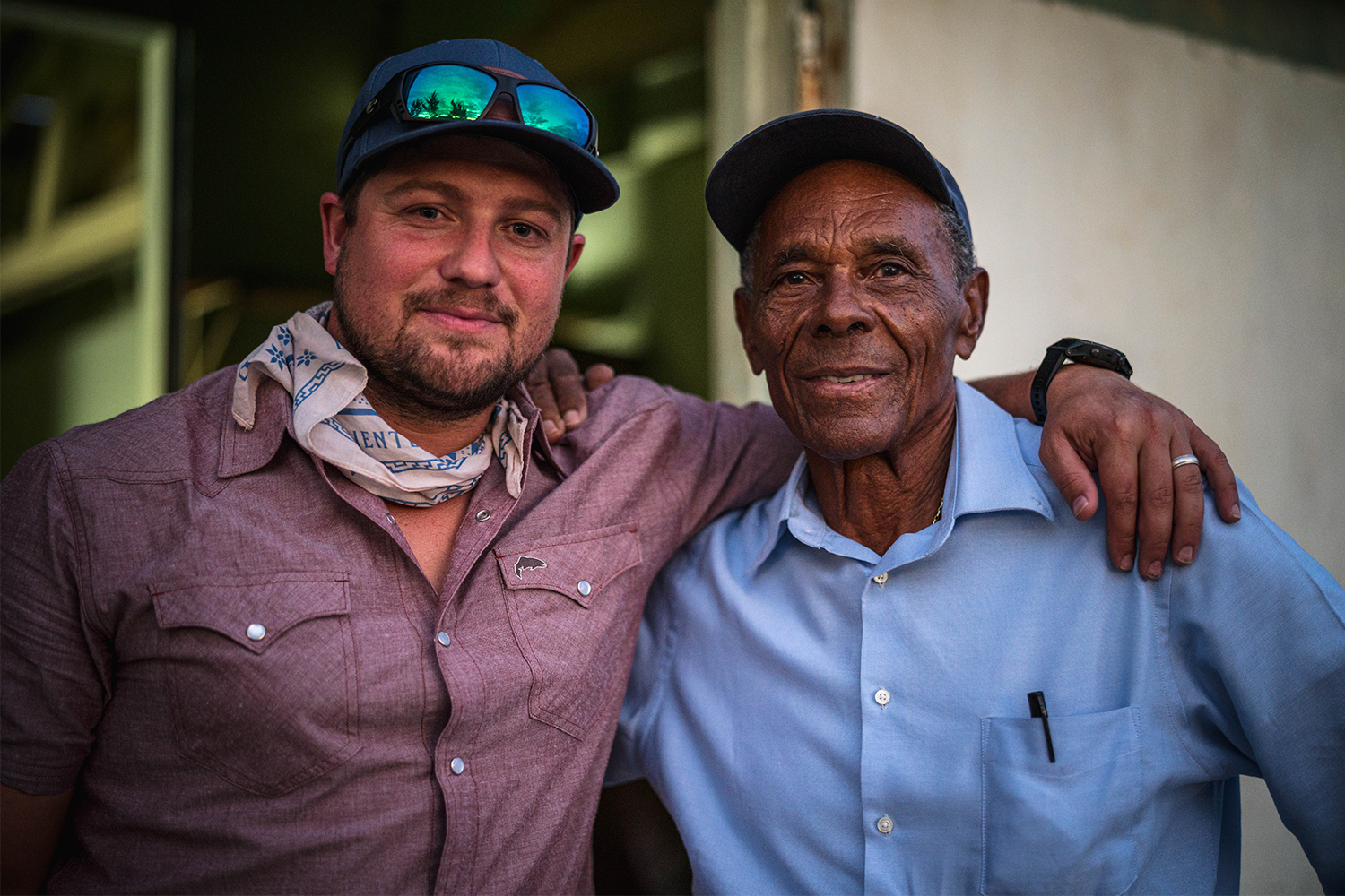Director Shannon Vandivier and fly fishing guide Ansil Saunders