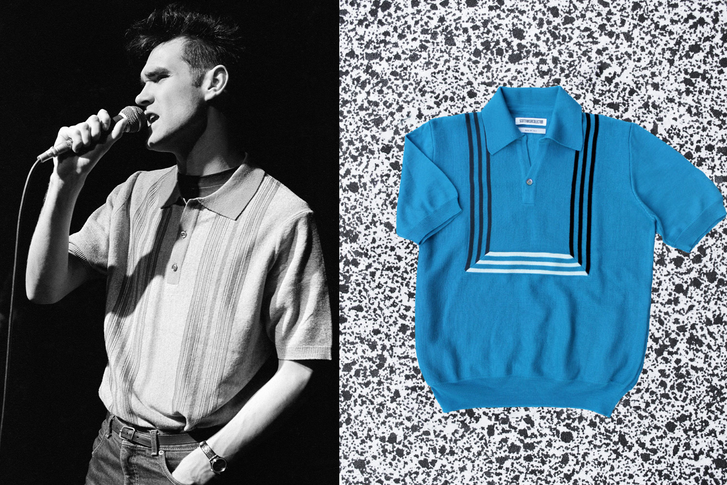 The knitted polo shirt