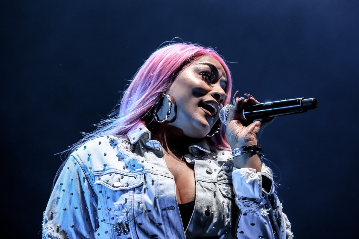 Stefflon Don performs on stage at The Royal Albert Hall