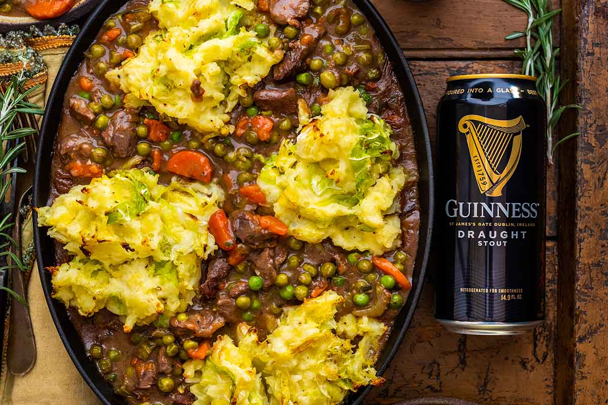 A picture of Guinness stew