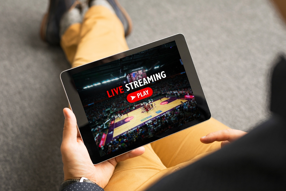 live streaming NBA on a tablet