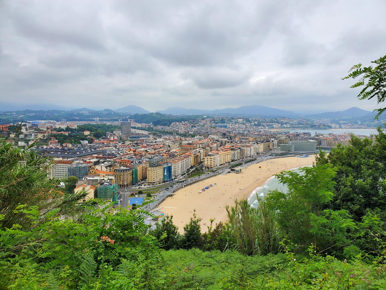 A view of San Sebastian, Spain from the Camino de Santiago
