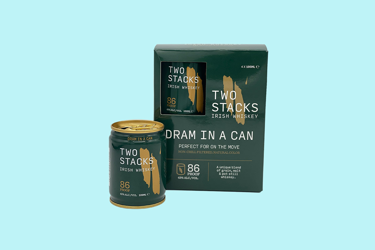 Two Stacks is the first Irish whiskey in a can