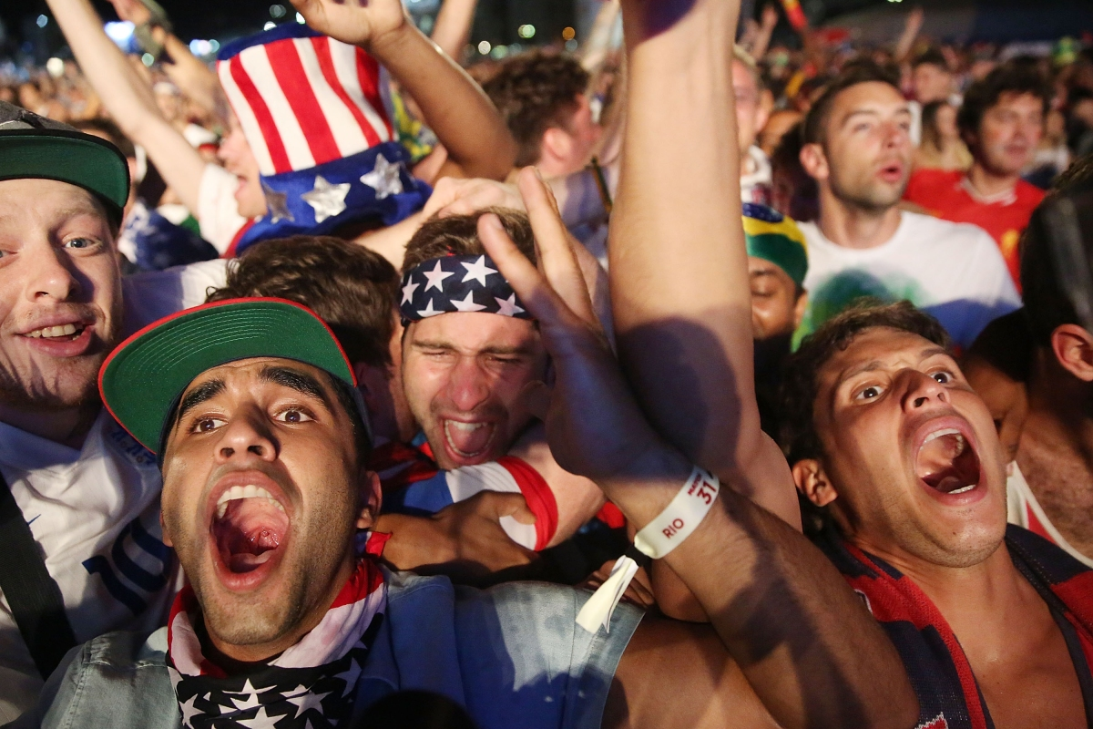 us fans celebrate world cup 2014