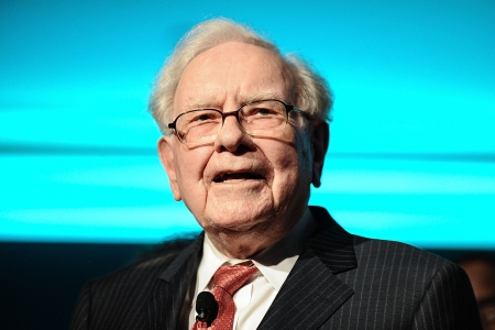 Warren Buffet onstage at the Forbes Media Centennial Celebration in 2017