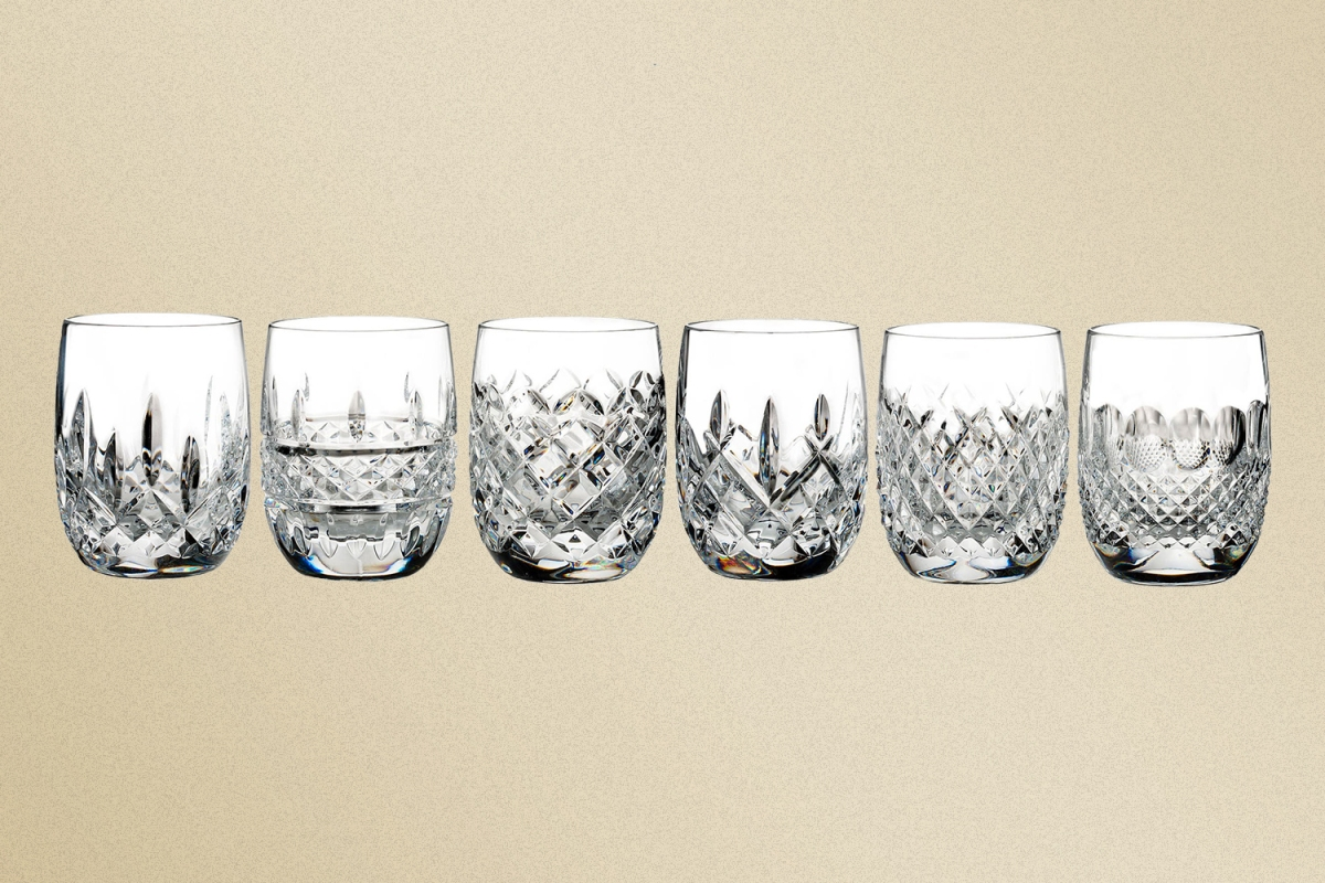 Six Connoisseur Heritage Crystal Tumblers from Waterford