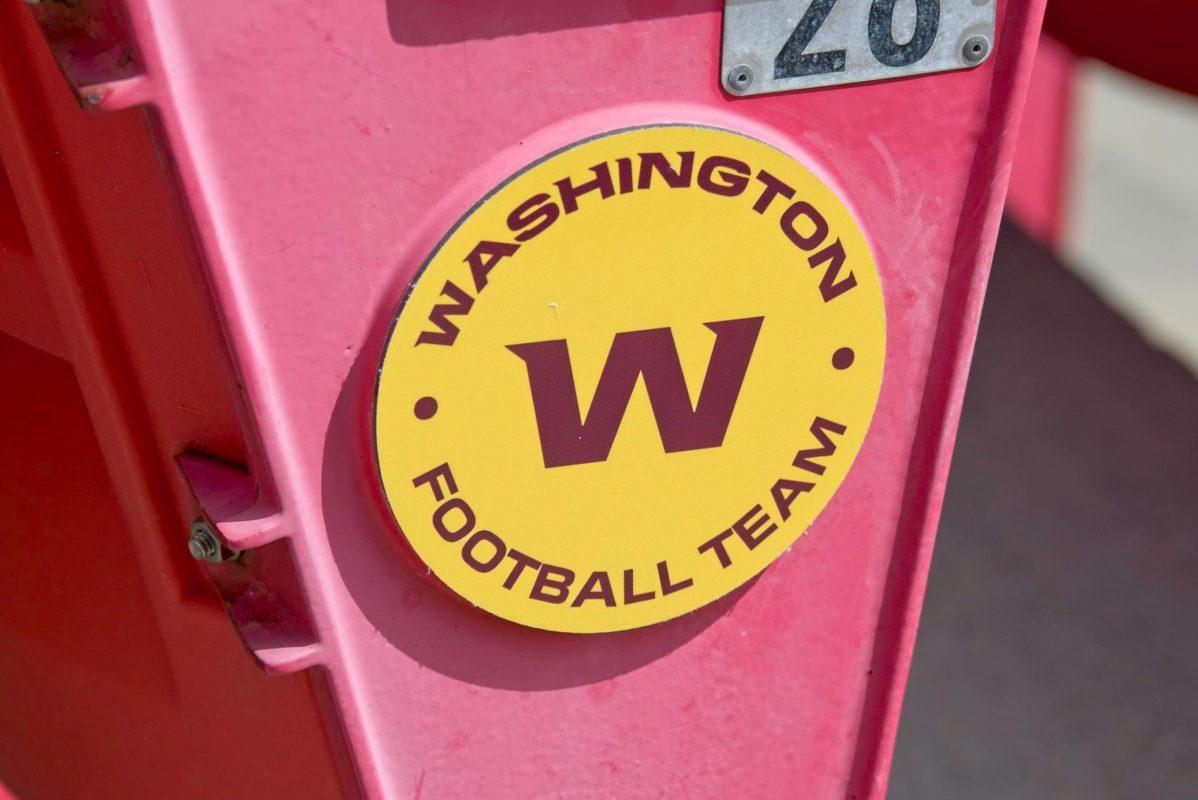 Washington Football Team logo on seats in stadium