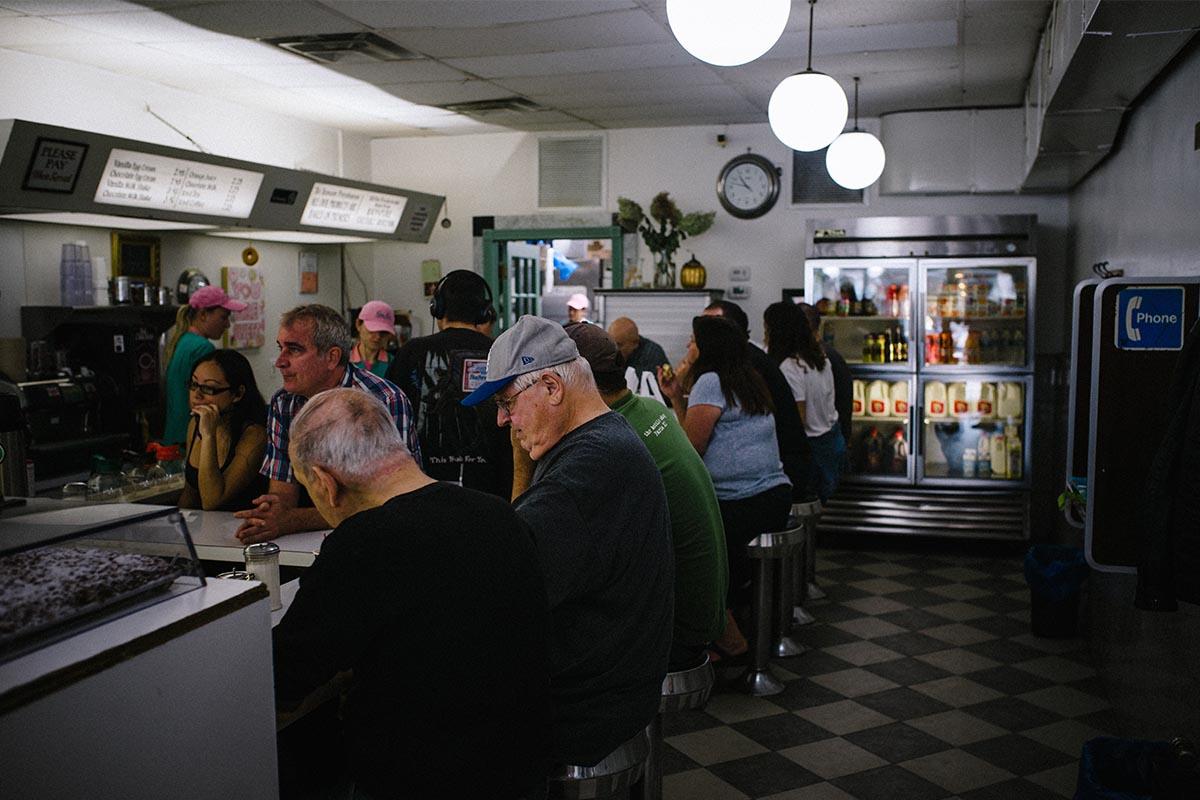 older clientele at a diner