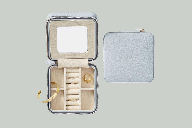 Mark & Graham Monogrammed Travel Jewelry Case