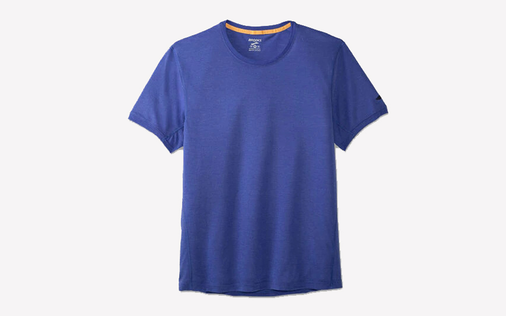 Brooks Distance Tee in blue