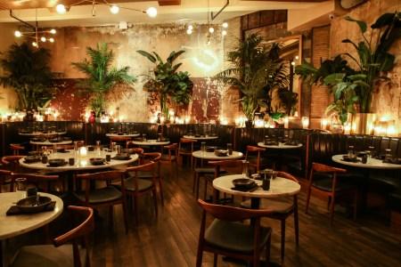 The interior of Chinese Tuxedo in Manhattan