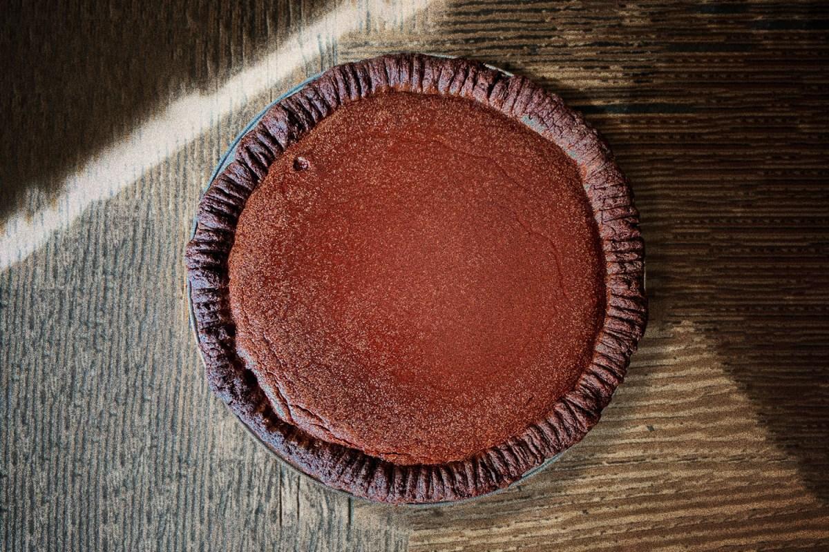 Perfect Chocolate Custard Pie