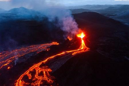 Volcanic eruption on the Reykjanes Peninsula