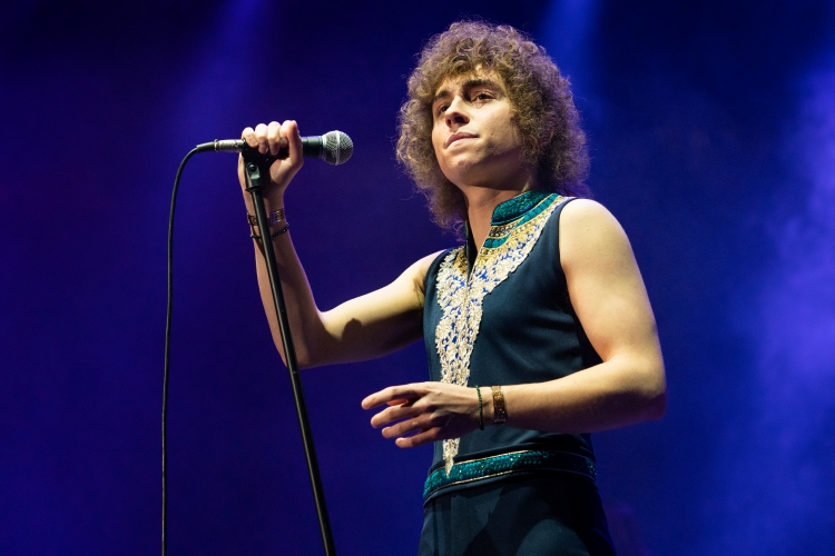 Josh Kiszka of Greta Van Fleet performs at UNO Lakefront Arena on December 20, 2019 in New Orleans, Louisiana.