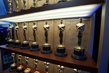 A view of the Oscar statuettes backstage during the 93rd Annual Academy Awards at Union Station on April 25, 2021 in Los Angeles, California.