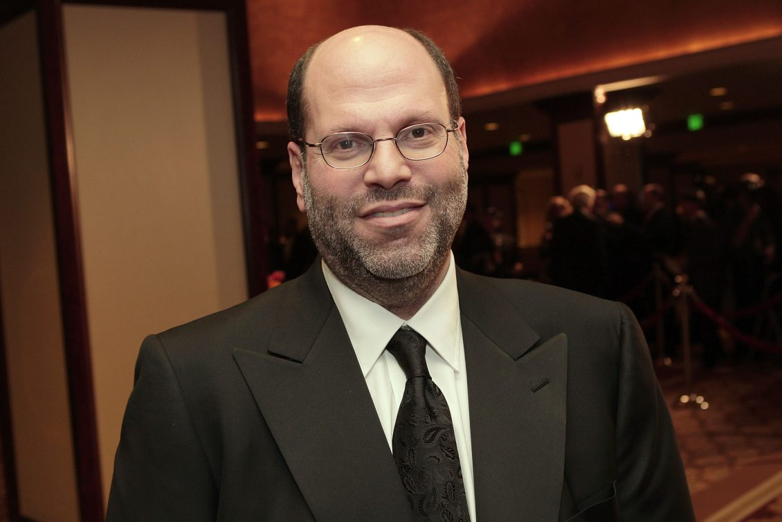 Film and theater producer Scott Rudin arrives at the 60th annual DGA Awards held at the Hyatt Regency Century Plaza Hotel on January 26, 2008 in Los Angeles, California.