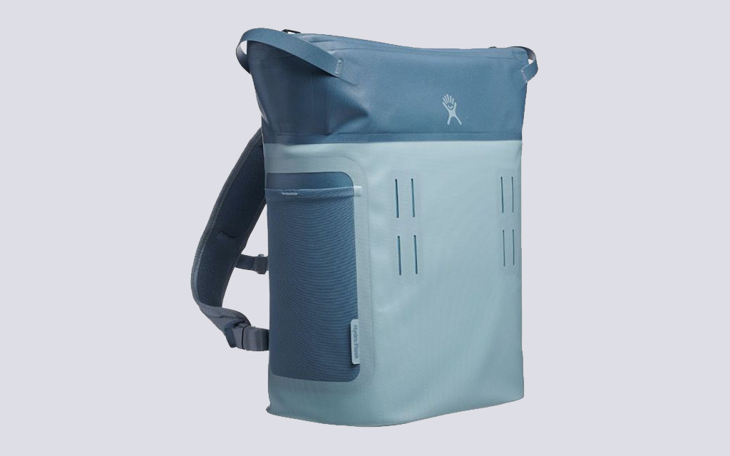 Hydro Flask Day Escape Backpack Cooler in light blue