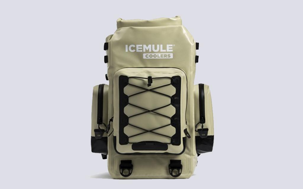 Icemule Boss Backpack Cooler in sand