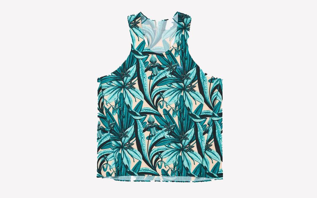 Janji AFO Singlet in vibrant floral pattern