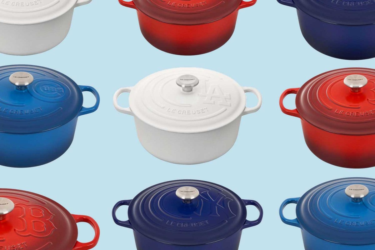 Cheer on Your Favorite MLB Team With a Signature Le Creuset Dutch Oven
