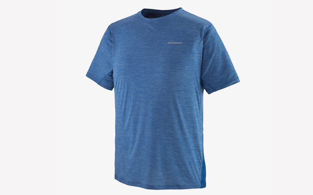Patagonia Airchaser Running Tee in blue