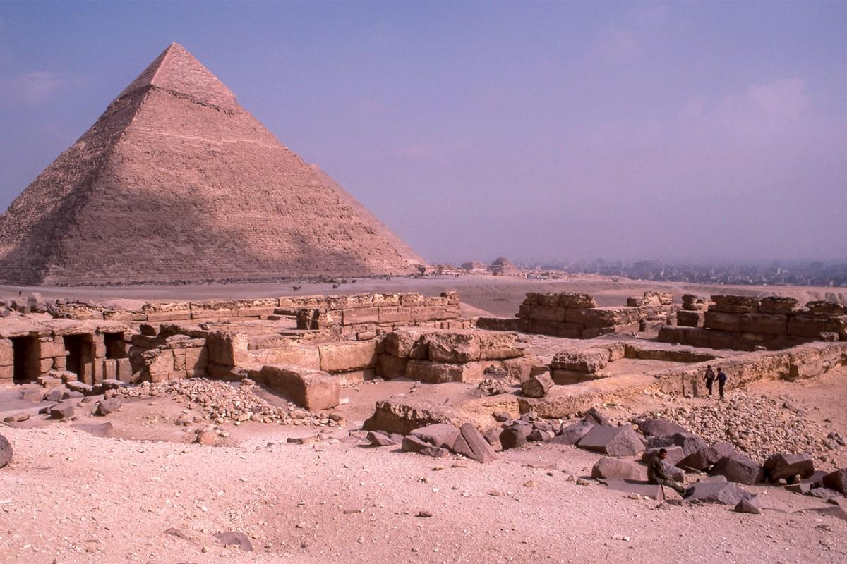 Ruins near the Great Pyramid