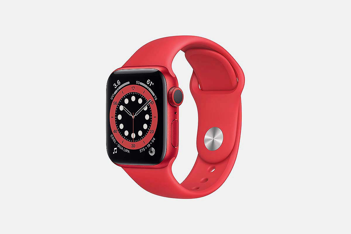 The red, 40mm Apple Watch Series 6, now on sale at Amazon