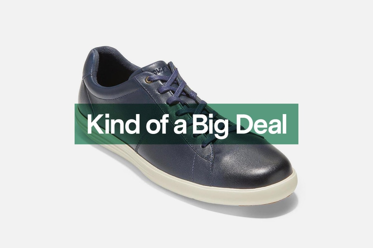The Reagan Sneaker at Cole Haan is down to $80 at Nordstrom Rack