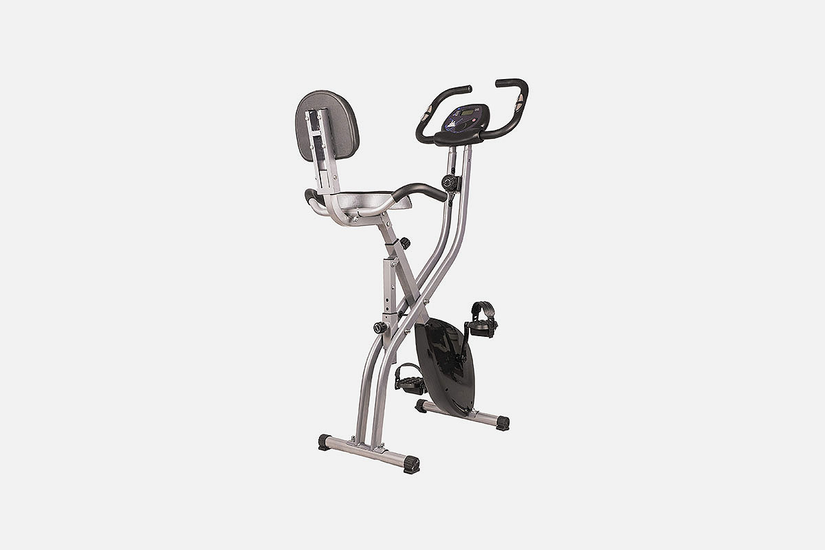 The BalanceFrom Folding Magnetic Upright Exercise Bike, now on sale at Woot
