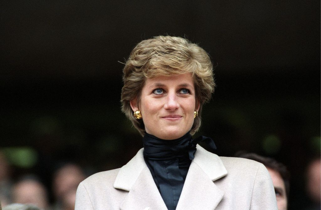 Lady Diana at the Rugby match France-Wales in Paris, France on January 21, 1995.