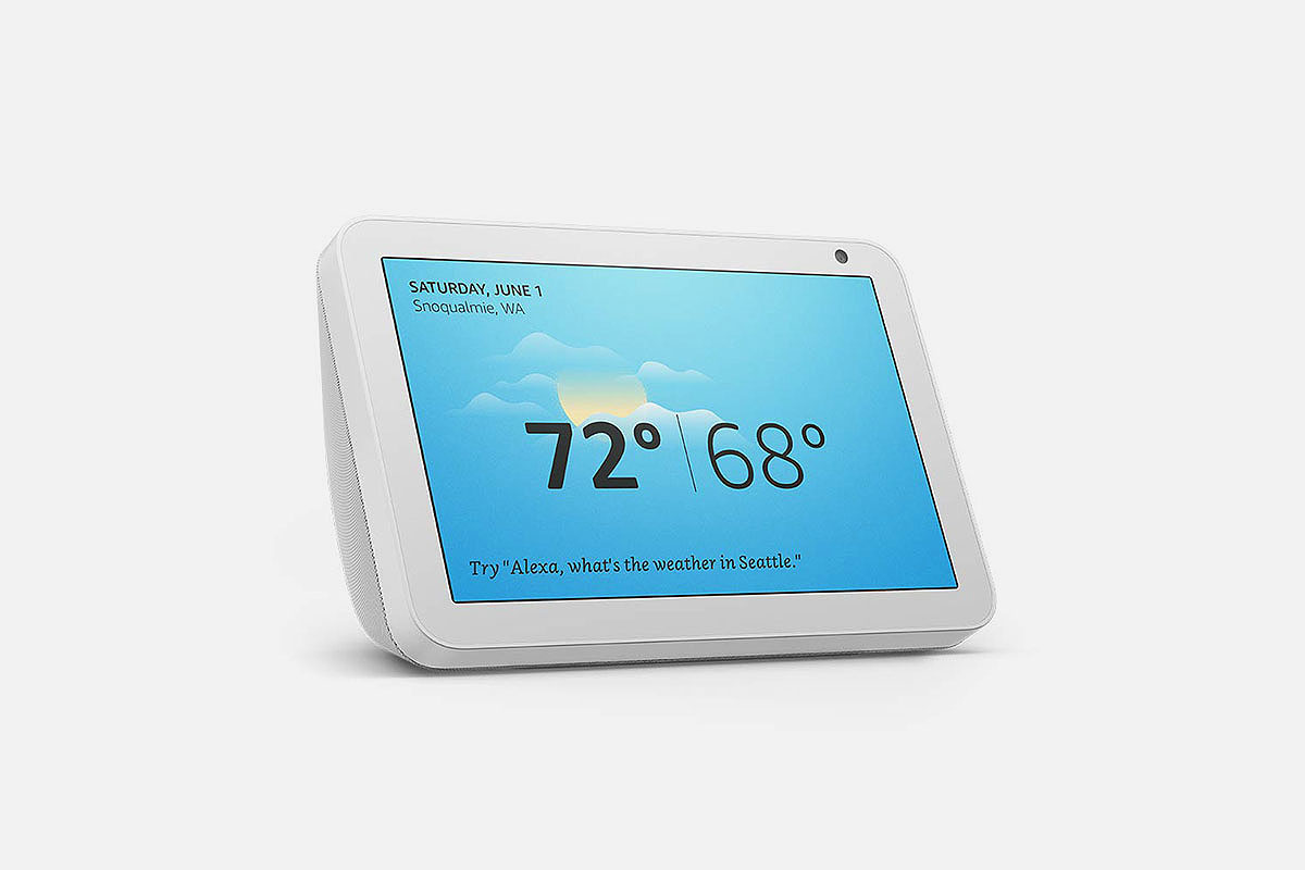 product shot of the Echo Show 8, now on sale at Woot