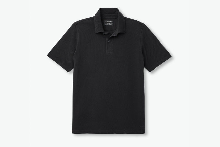 Filson men's polo shirt in black