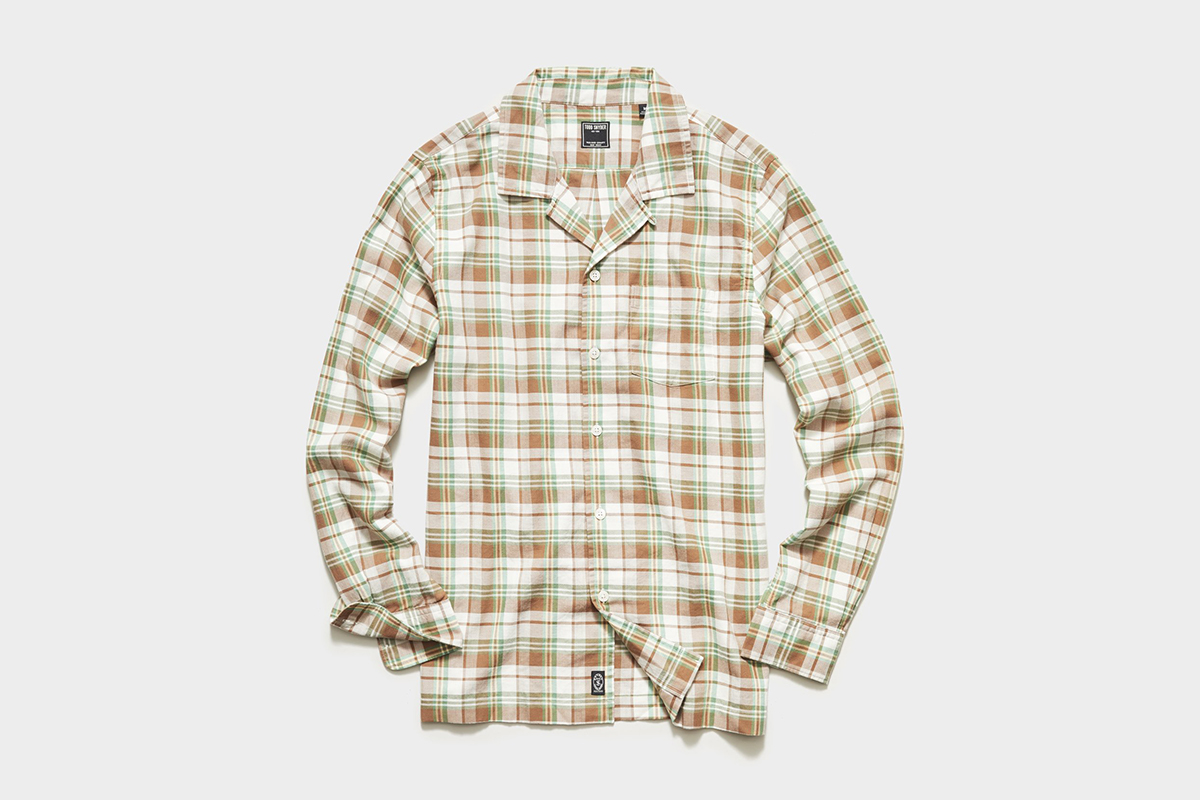 Todd Snyder Flannel Camp Collar