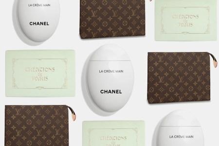 Chanel Hand Creme, Creations De Paris Stationary, Louis Vuitton Cosmetics Pouch