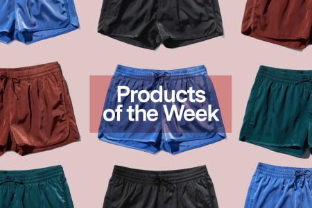 "The text ""Products of the Week"" overlaid over a selection of CDLP Swim Shorts"