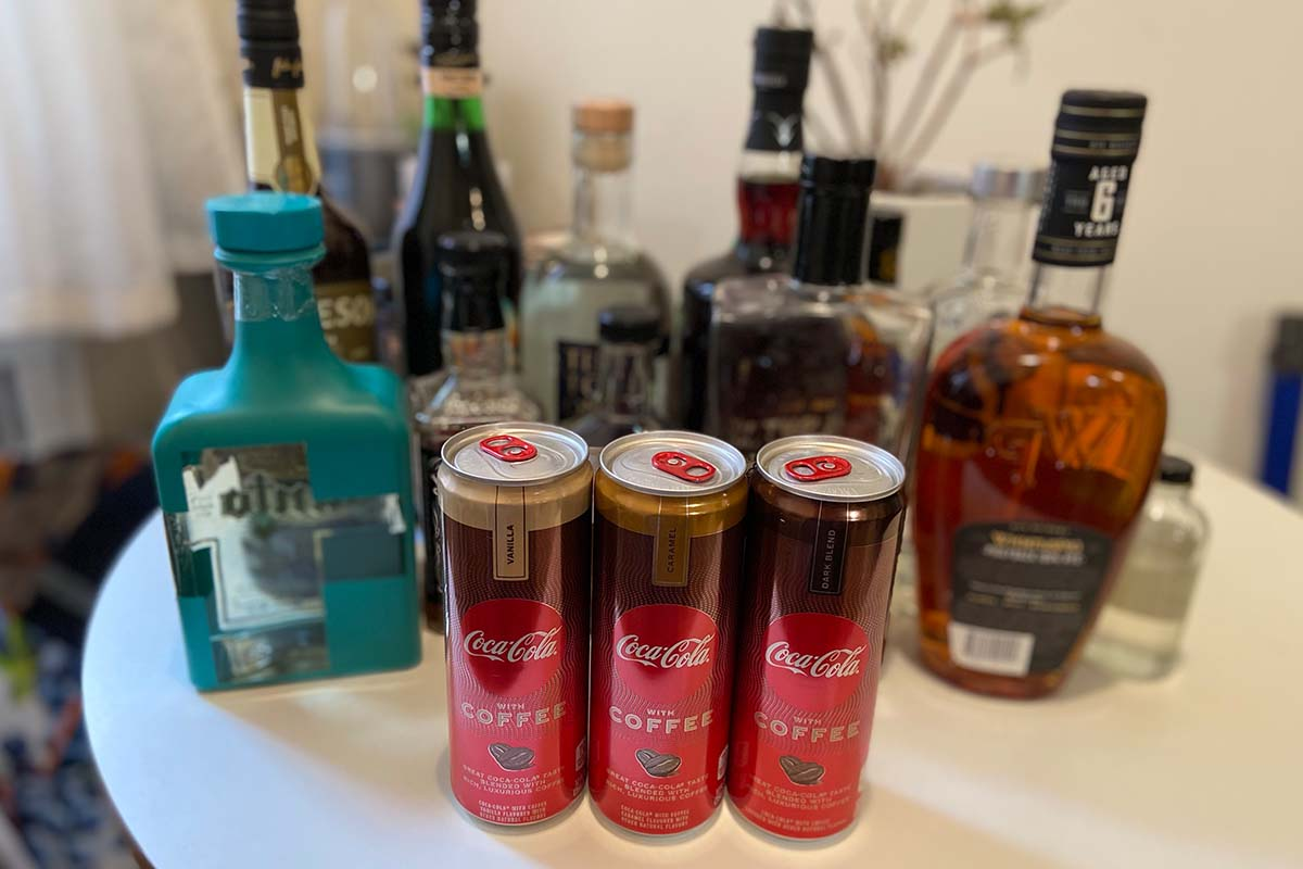 mixing the new Coca-Cola With Coffee and a variety of spirits