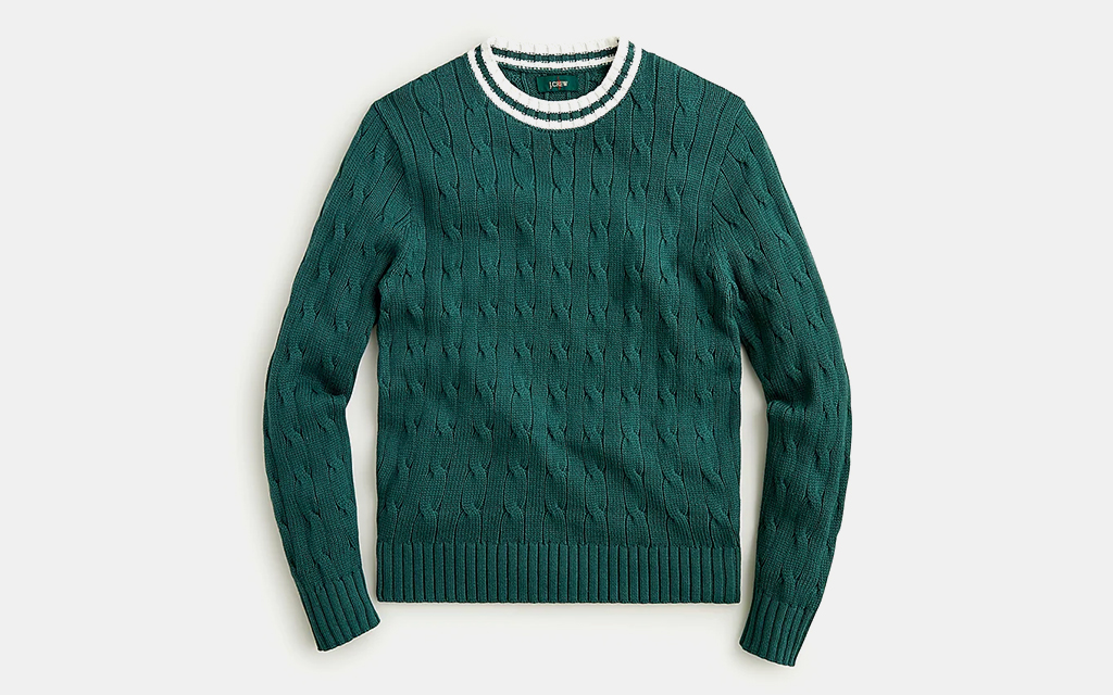 J.Crew Cotton Cable Knit Cricket Sweater